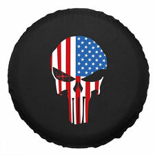 15 Inch SUV Spare Tire Cover Wheel Protector For All Cars sailcloth Skull flag