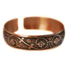 Pure 100% Copper Bracelet Bioactive Bangle Vintage Style Bronze Verona