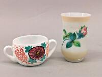 8635077 Mug And Cup Opaline Glass Email Painting Biedermeier