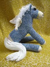 💜 Sock Monkey Pony Blue Pegasus Handmade