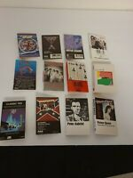 Rock Music Lot Of 12 Cassette J Card Inlay NO Tapes Art Only