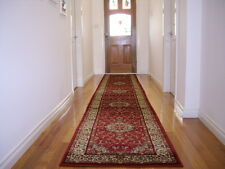 Hallway Runner Hall Runner Rug 3 Metres Long Premium Quality Classic Red