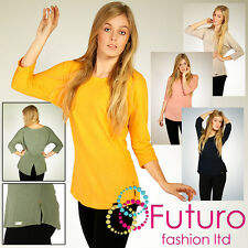 Winter Plain Jumper with Glitter on the Back Blouse Tunic Size 8-12 FT1042