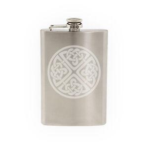 Ireland Traditional - Irish Circular Celtic Knot-8 oz etched flask