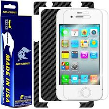 ArmorSuit MilitaryShield Apple iPhone 4S Verizon Screen + Black Carbon Fiber