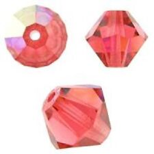 Swarovski Crystal Bicone. Padparadscha AB Color. 4mm. Approx. 144 PCS. 5328