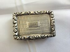 Solid Silver Vinaigrette 1827 Silversmith Francis Clark