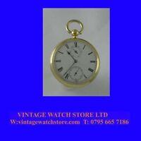 Rare Prescot Made 18k Gold Chain Fusee Fareham Up/Down Pocket Watch 1876