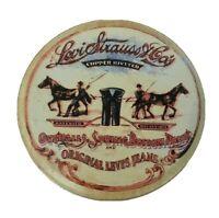 Levi Strauss & Co. Circle Metal Tin Can Belt Storage Holder