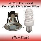 Energy Saving 15 watt Warm White Fluorescent Downlight Kit in Silver Finish