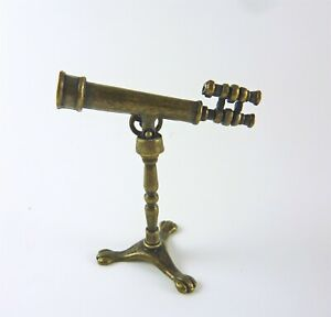 Dollhouse Miniature Vintage Style Telescope on Stand, S1907