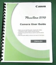 Canon Powershot S110 Instruction Manual: 346 Pages & Protective Covers