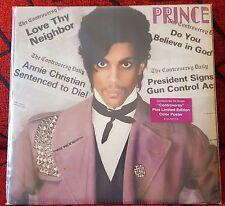 PRINCE ** Controversy ** VERY SCARCE 1981 EU LP w/ BIG SEXY POSTER