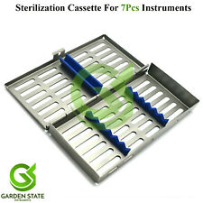 7pcs Dental Hygiene Instruments Autoclave Cassette Sterilization Rack Tray Box