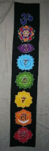 Chakra Banner Batik - Small Black Bunting Pagan Boho Fairy Festival Garland