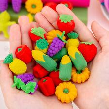 20pcs Cute Fruits Vegetables Eraser Gifts Cartoon School Kid Student Erasers