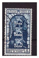 REGNO 1934 - FIUME  POSTA  AEREA  Lire 2   USATO