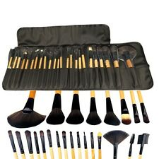 Professional Make Up Cosmetic Set Wooden Soft Bristle 24 BRUSHES Pouch EXCELLENT
