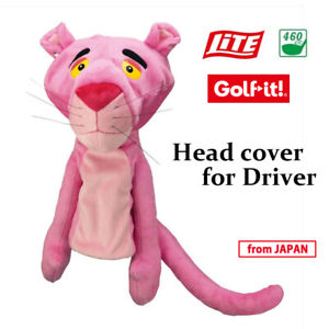 2020 LITE Golf Japan PinkPanther Animal type Earrings Head cover for Driver 20sp