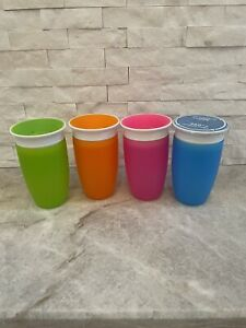 Lot Of 4 Munchkin Miracle 360 10oz Sippy Cup - Blue is NEW