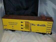 Bachmann G Scale D&RGW Rio Grande #71 Old Time Truss Rod Ventilator Reefer Car