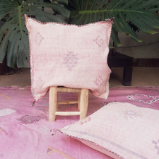 Fabulous and very soft pillow handmade from cactus silk in Morocco. Sometimes ca