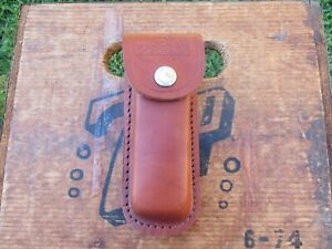 Vintage Schrade Leather Folding Pocket Knife Pouch Sheath Excellent