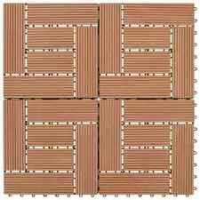 Vidaxl 11x Piastrelle per Decking WPC 30x30cm 1mq Marrone Listelli Mattonelle