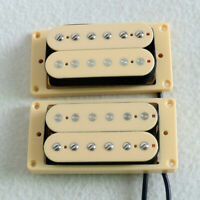 Cream Epiphone Les Paul Electric Guitar Pickups Humbucker Set N&B Magnet Ceramic
