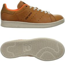 Adidas Stan Smith Cognac Brown Men's Leather Sneaker Casual shoes Trainers shoes