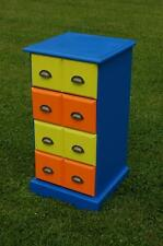 Funky! Pine Four Drawer Chest Child's Bedroom / Toy Room Storage Unit