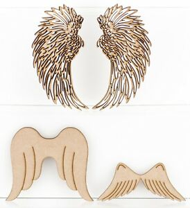 MDF Angel Wings Craft Shapes 3mm Thick Christmas Embellishments Blank Plaques