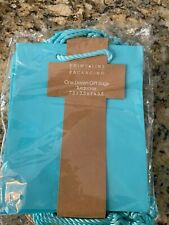 New Prime Line Packaging One Dozen Turquoise Gift Bags 7.5 x 3.5 x 9 x 3.5