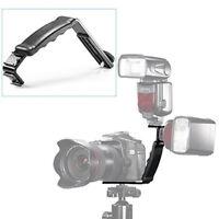L-Shape Flash Bracket Holder For Flash light Camera DV Camcorder With Hot Shoe