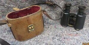 WW1 era C P Goerz trieder 9X Binoculars serial nos 38519 with case