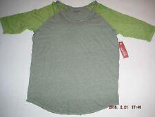 Arizona Teen Girls 3/4 Sleeve Green on Green Top Size L NwT
