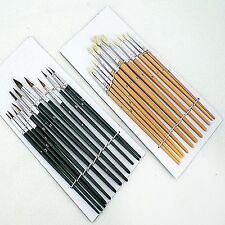 OI24PC Acrílico Artistas Colores pintura cepillo conjunto cepillos artesanías finas Tamaños Kit Nuevo