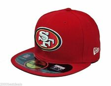 pretty nice 6d15b 8e171 New Era Cap Hat 59Fifty San Francisco 49ers Red NFL On field Fitted 5950  Team