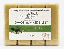 Savon De Marseille La Cigale Verde Pure Aceite de Oliva Jabón - Pack De 4 X 100g