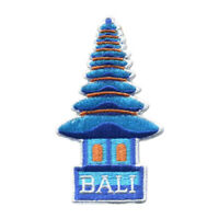 Bali Iron On Travel Patch - Indonesia Temple Patch