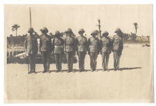 Group of British Soldiers in Khaki Uniform & Pith Helmets - Vintage Photo c1930s