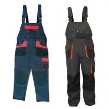Bib and Brace Overalls Mens Work Trousers Knee Pad Dungarees Multi Pocket Clasic