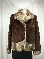 AFFORDABLE SUMPTUOUS LUXURY SADDLE-BROWN FRENCH REX FUR LADY JACKET  FREE SHIPG