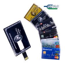 USB Flash Drive Memory Stick Pendrive USB Stick 1MB-32GB Credit Card Shape Lot