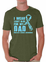 I Wear Light Blue for My Dad T shirts Shirts Tops Prostate Cancer Awareness