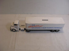 ERTL Chevrolet Tractor and Semi Truck Bank w/key 1:64 Scale Diecast #605