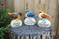 Colorful Bird Figurine Birds With Words Statue Home Garden Signs Ornaments Decor