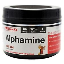 PES Alphamine 84 Servings Thermogenic Fat Burner Energy Iced Tea