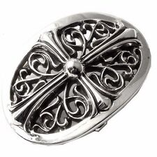 "Authentic [Chrome Hearts] Oval Belt Buckle Standard (3""W X 2""H)"