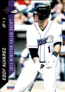 2015 Winston-Salem Dash Choice #1 Eddy Alvarez Miami Florida FL Baseball Card